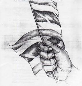 มือกำธงชาติไทย