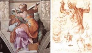 The Libyan Sybil ผลงาน Michelangelo Buonarroti