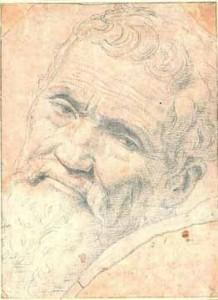 ภาพเหมือนไมเคิลแอนเจโล วาดโดยเดลีนี เด วอลเดอร์ลา (Daniele da Volterra)